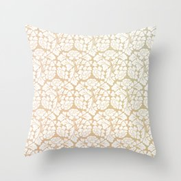 William morris pattern in gold Throw Pillow