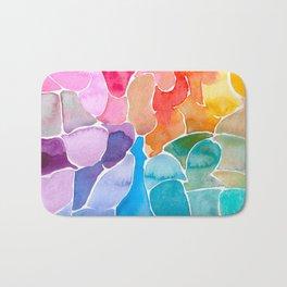 Rainbow glass Bath Mat