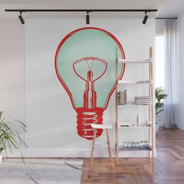 Bulbuous CHERRY MINT Wall Mural