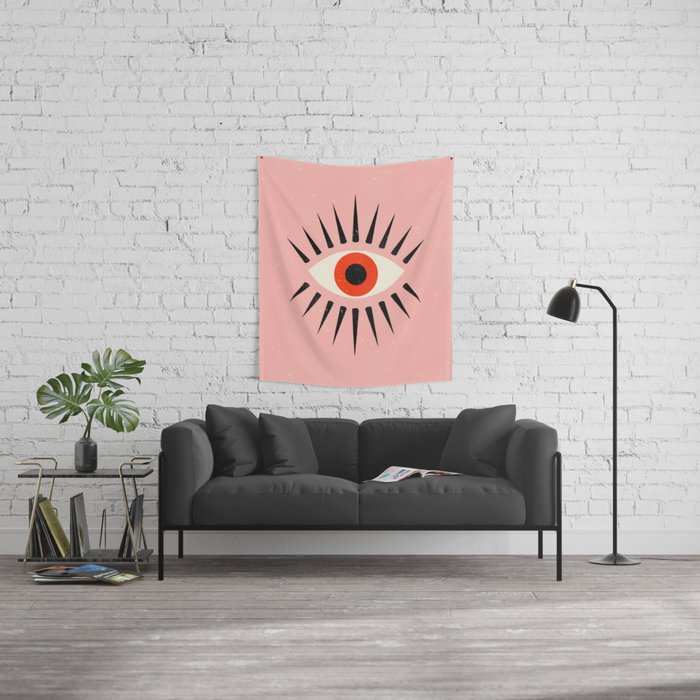 Red Eye Wall Tapestry