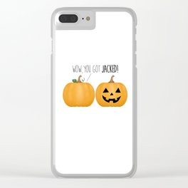 Wow, You Got Jacked! Clear iPhone Case