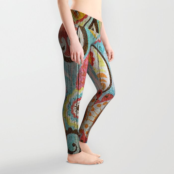Kashmir on Wood 02 Leggings