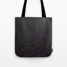 Violet voronoi grate on black background Tote Bag