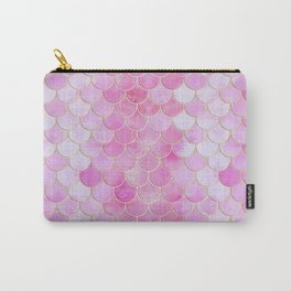 Pink Pearlescent Mermaid Scales Pattern Carry-All Pouch