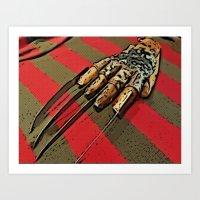 freddy krueger Art Prints featuring Freddy Krueger by Rachel Bradford