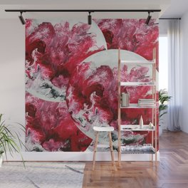 red white black abstraction Wall Mural
