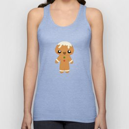 Christmas Card - Gingerbread Kid Unisex Tank Top