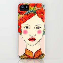 lotus girl iPhone Case