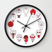 calendar Wall Clocks featuring Calendar monsters by Nika Belova