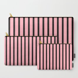 Pink And Black Stripes | Pastel Goth Decor Carry-All Pouch