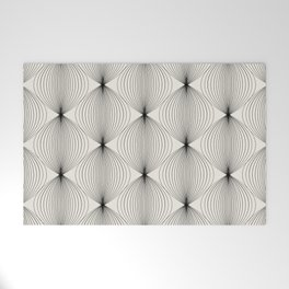 Geometric Orb Pattern - Black Welcome Mat