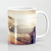 buddhism Mugs featuring Buddha the other side  by Maria Heyens