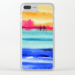 Sunset beauty Clear iPhone Case