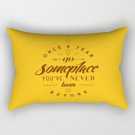 Once a year Rectangular Pillow