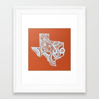 texas Framed Art Prints featuring Texas by bkraftydesigns