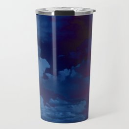 Clouds in a Stormy Blue Midnight Sky Travel Mug
