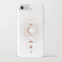 Moon Variations in White iPhone Case