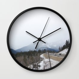 Rocky Mountains roadside lookout Wall Clock