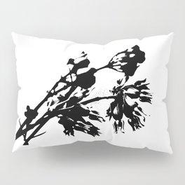 Black and White Abstract of Desert Milkweed Pillow Sham