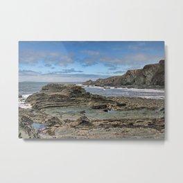 Hartland Quay Coast Metal Print