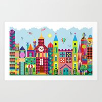 Color city Art Print