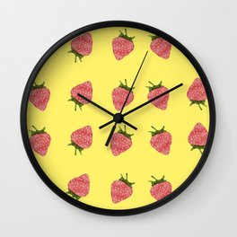 Red Strawberries   Wall Clock