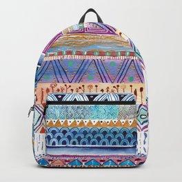 Tribal Watercolor Pattern. Backpack