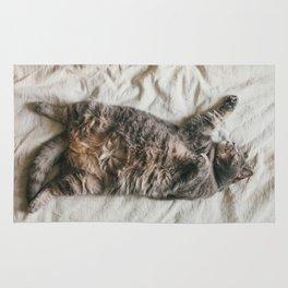 Fat lazy cat Rug
