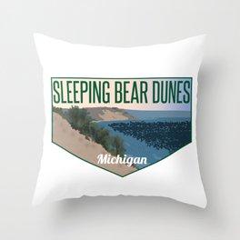 Sleeping Bear Dunes Michigan Throw Pillow