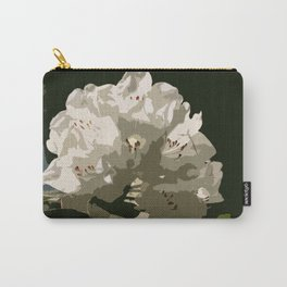 White Rhododendron In The Sun Carry-All Pouch