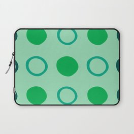 Green and Blue Dots Pattern on Soft Green 1 Laptop Sleeve