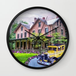 Rutherford B. Hayes Taxi Wall Clock