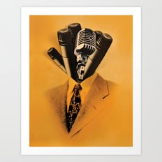 Mr. Microphone Art Print