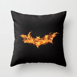 Super Hero on Fire Throw Pillow