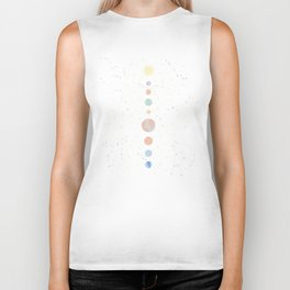 For You - Solar System Illustration Biker Tank