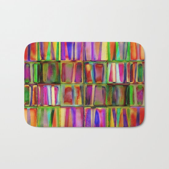 The Colorful World of Books Bath Mat