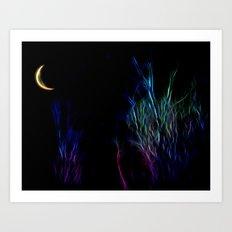 Neon Moon Art Print