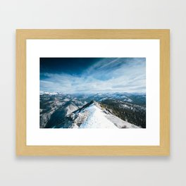 Clouds Rest Framed Art Print