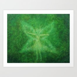Green fairy Art Print