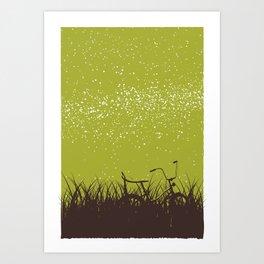 Bike - Starry Skies Series 1 Art Print