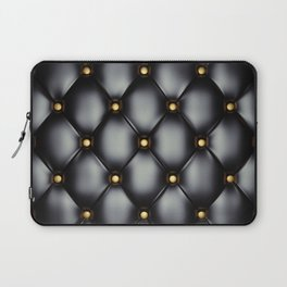 Black upholstery pattern Laptop Sleeve