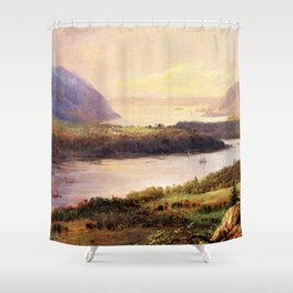 Highlands on the Hudson Landscape by Frederic Irwin Church Shower Curtain