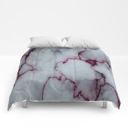 White with Maroon Marbling Comforters