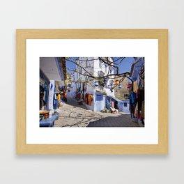 Chefchauen: Crossroads Framed Art Print