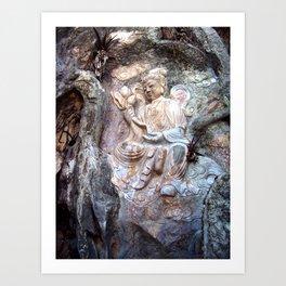 Kwan Yin Buddhist Carving - Marble Mountain, Danang, Vietnam Art Print