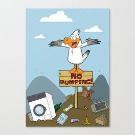 No Dumping! Canvas Print