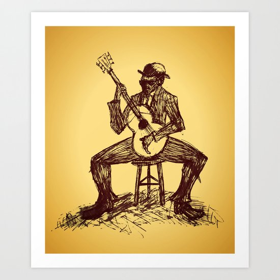 The Blues Man Art Print