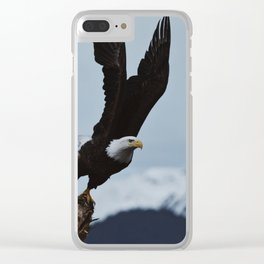 Alaskan Bald Eagle Clear iPhone Case