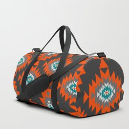 Ethnic shapes on dark background Duffle Bag