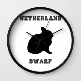 Netherland Dwarf Print Wall Clock